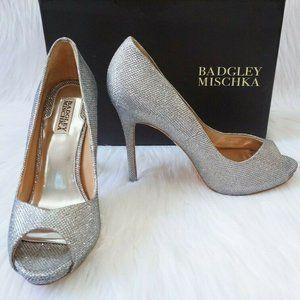 🆕Badgley Mischka Peep Toe Platform Heel Diamond